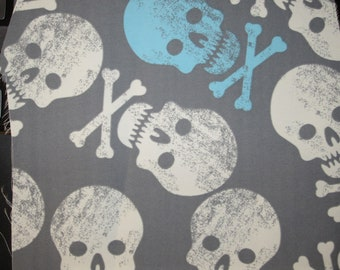 Grey & Blue Skulls on MicroFiber Boardshort