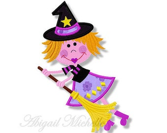 Bewitched 1 Applique, 2 Sizes - Machine Embroidery