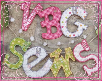 Banner Fun Alphabet, In The Hoop - 3 Sizes, Machine Embroidery