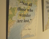 Vintage map prints, include quote of your choice, custom made, home or travel gift, ready to frame.
