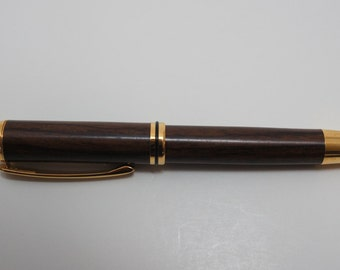 pen, rollerball, rosewood, gold