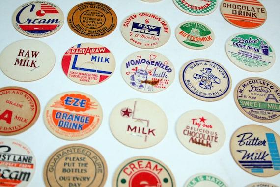 10 Vintage Milk Caps