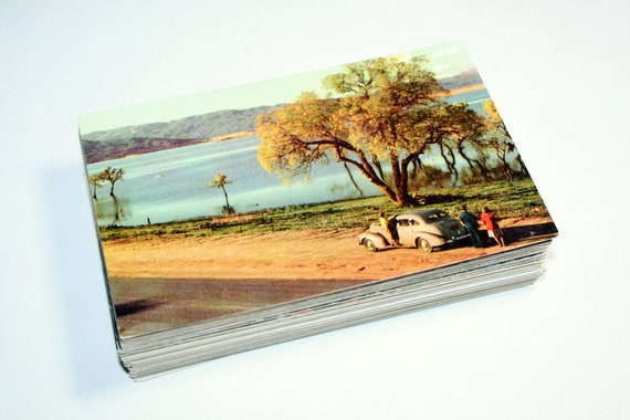 100 Vintage California Scenic Outdoor Views Chrome Postcards Blank - Wedding Guest Book