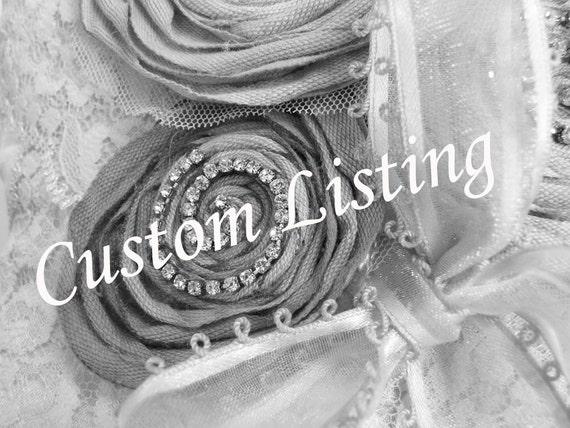 Custom Order for Kate Rush (katerush22) - 4 Flower Girl Baskets and 1 Ring Bearer Pillow