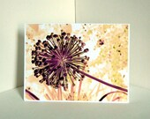 Warm Abstracted Floral Design Blank Card, Note Card, Greeting Card/s