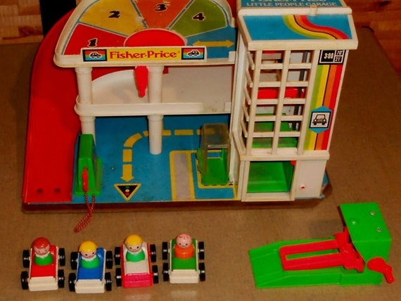 Classic Fisher Price Toys : Vintage fisher price parking garage ramp