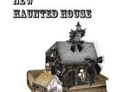 Haunted House Gothic Steampunk with Edgar Allen Poe Poem Halloween  printable DIY