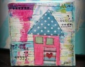 Mixed Media original artwork - Small and Lovely Home