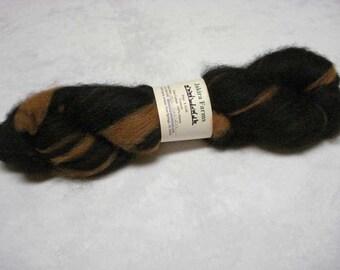 SALE 25% OFF - Alpaca Roving - Black and Medium Brown - 4 oz