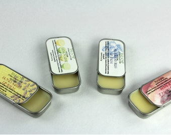 Lip Balm Tin: Blueberry, Honey, Blood Orange, Lemon Lime, Your Choice
