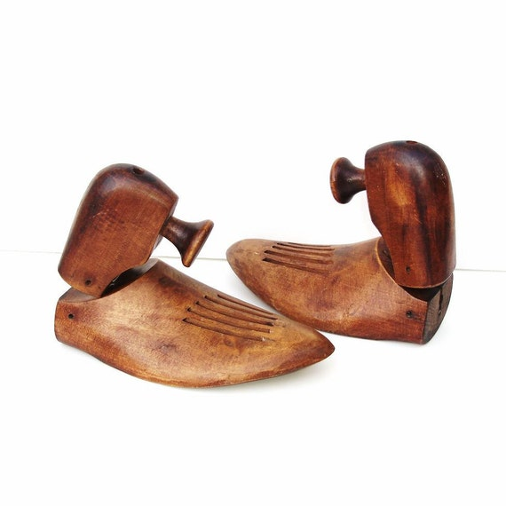 Industrial Decor Antique Wooden Shoe Forms Wood Shoe