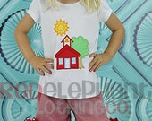Red Back to School House Outfit, Custom Boutique
