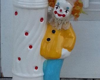 Vintage Happy Clown Porcelain Bone China Coin Bank