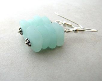 Sea Glass Seaglass Earrings Sea Foam BellinaCreations Bellina Creation