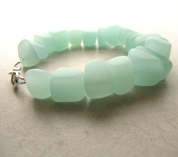 Seaglass Bracelet, Sea Glass Bracelet, Aqua Seaglass, Surfer, Boho, Bohemian, Beach Jewelry, Beach Fashion, Ocean Jewelry, Beach Wedding