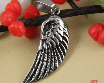Small Feather Wing Stainless Steel Pendant