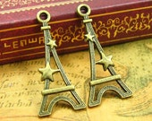20 pcs Eiffel Tower Charms Double Sided 30x13mm CH1086