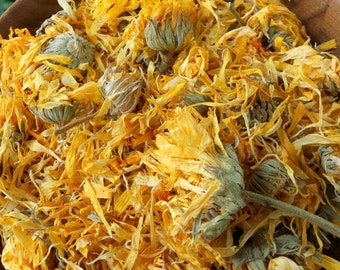 Dried CALENDULA Flowers Whole 5,10 Cups Medicinal Herb // Calendula Salve Oil Bath Soap Herbal Remedies Tincture