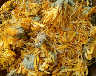 Dried CALENDULA Flowers Whole Bulk Wholesale // 15 20 25 30 40 Cup // Calendula Oil Salve Bath Soap Herbal Remedies Tinctures Medicinal Herb