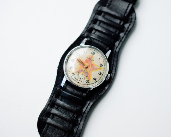 Soviet Mechanical Watch - Working - Recycled Retro Watch - Unique Gift Idea