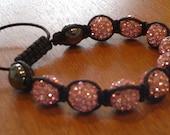 Pink shamballa crystal bracelets