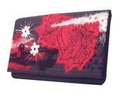 Handmade clutch bag purse large - Dangerous Ruby