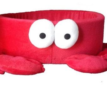 Red Hermit Crab Handmade Fleece Pet Bed