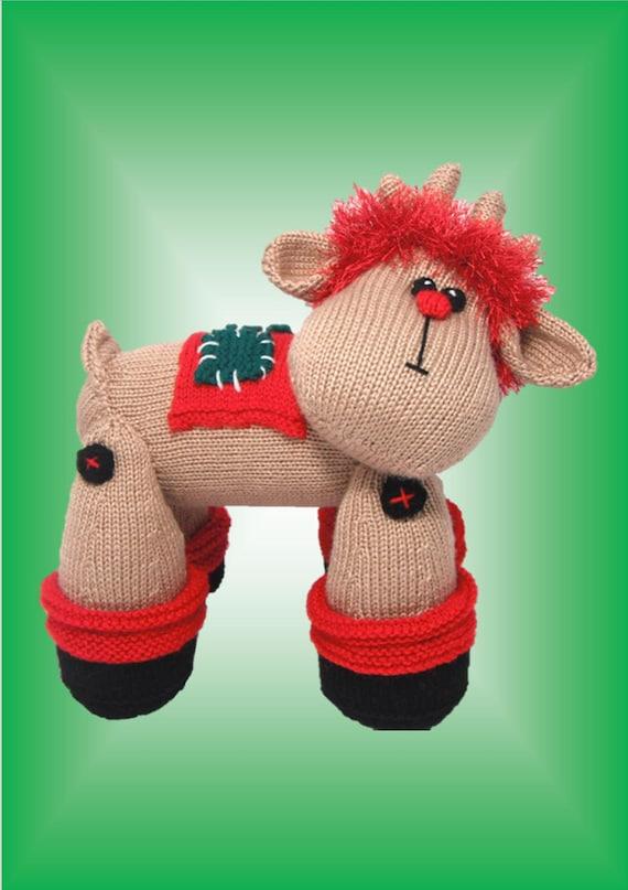 Reggie Reindeer - Original Toy Knitting pattern