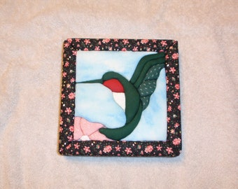 Hummingbird Faux Quilt Picture