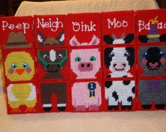Farm Animal Block Set