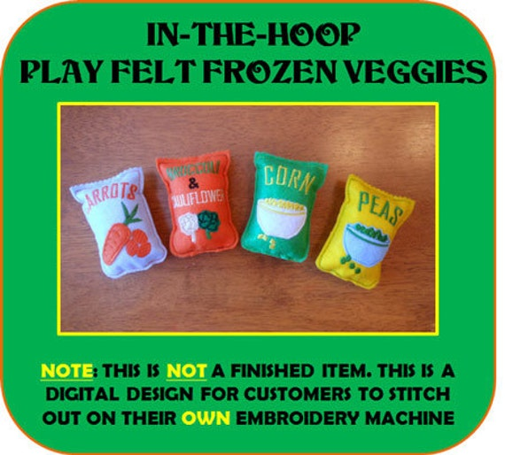 In-The-Hoop Play Frozen Felt Food Embroidey Design Set