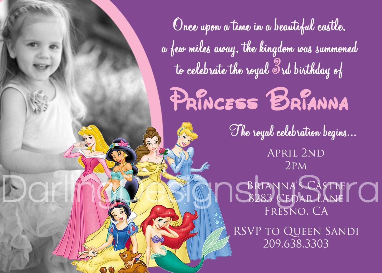 Princess Birthday Invite for good invitations layout
