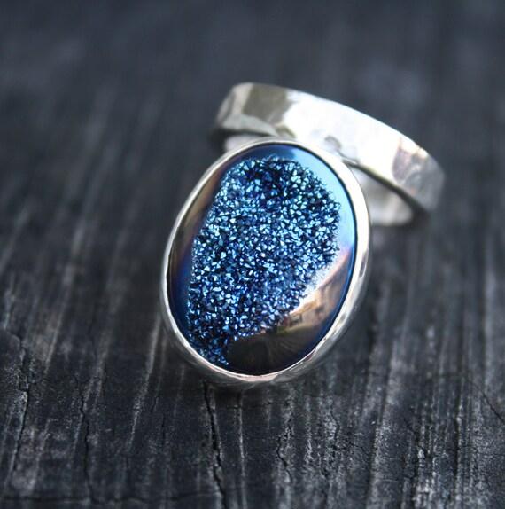 Blue Drusy Ring - Arabian Nights
