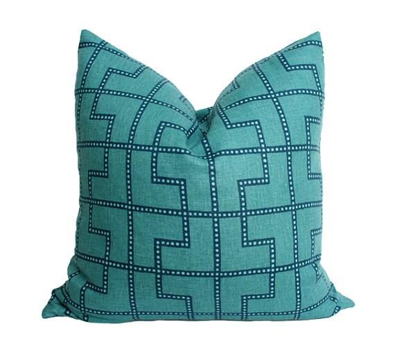 Bleecker Peacock - Celerie Kemble - Designer Pillow Cover (Double-Sided) 10x10