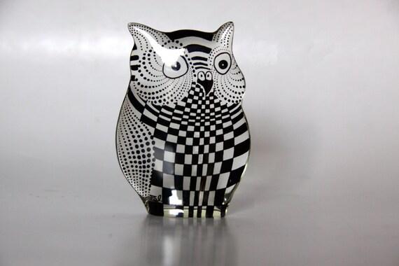 Reserved Abraham Palatnik Lucite Owl Figurine
