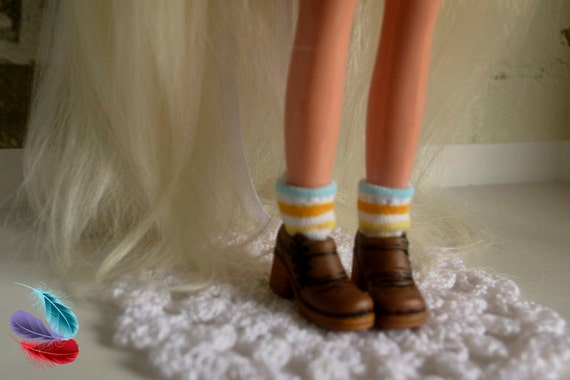 Blythe Doll Shoes/Brown Shoes