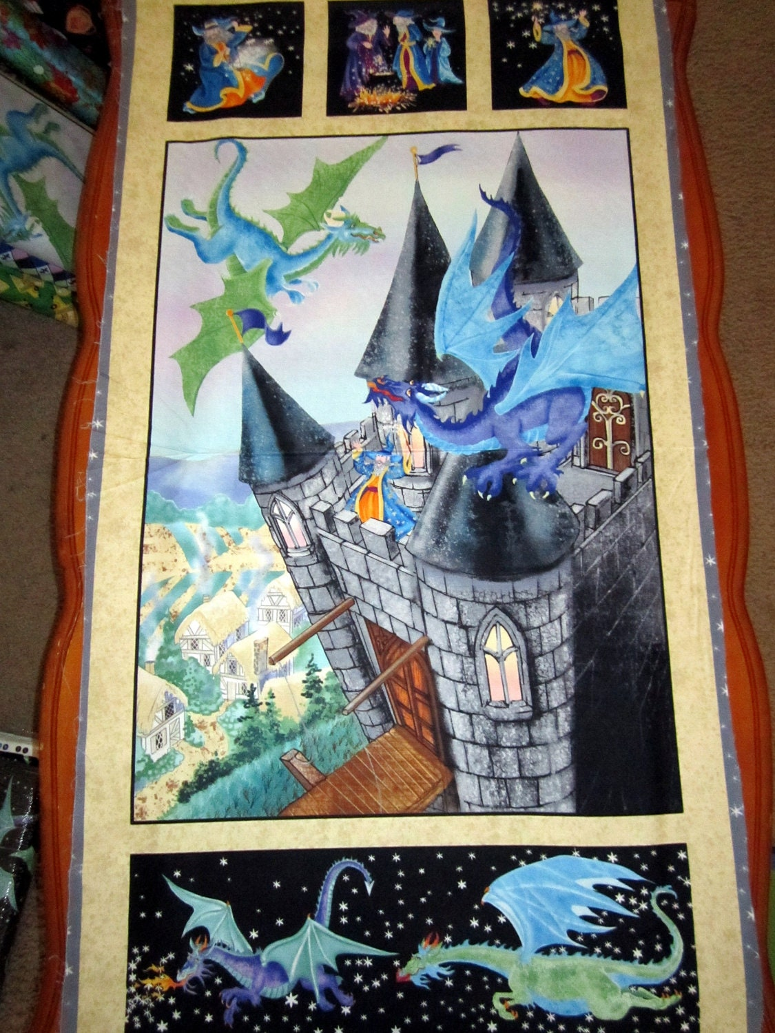 Wizard Fun Castle Dragons And Wizards 24 X 44