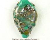 Turquoise Base Double Helix Focal Bead
