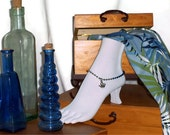 """Octopus Anklet 10"""" Blue & Silver Ball Chain"""