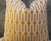 SALE Designer Pillow Cover - 16 x 16, 18 x 18, 20 x 20  -  Lollipop Orange