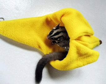 Sugar glider and rat LARGE banana cage pouch