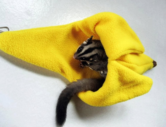 Sugar glider banana cage pouch