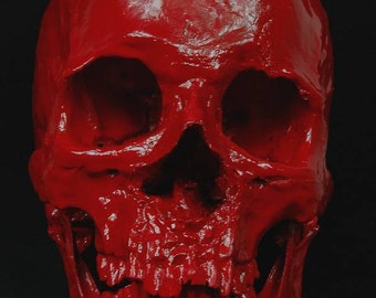 Painting human skull resin replica,free shipping to every where.made by lovefuture.