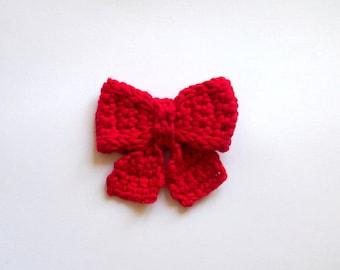 Crochet pattern, Bow broch , necktie , decoration, applique, PDF DIY photo tutorial
