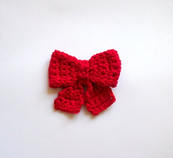 Crochet pattern Bow broch necktie decoration applique
