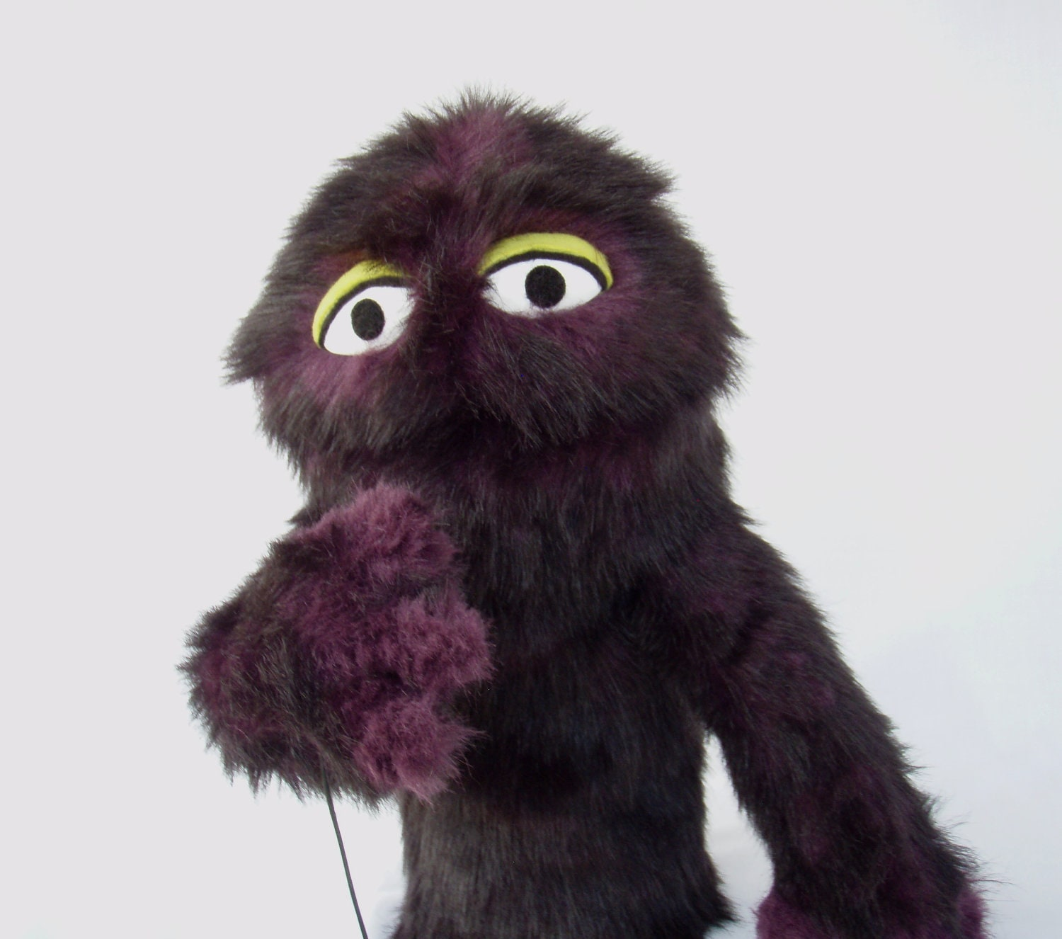Keep Calm And Movin Right Along The Muppets: Purple Furry Muppet Monster Hand Puppet By OnHandByHand On