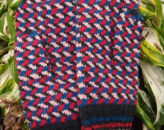 Colorful Finely Hand Knitted Estonian Mittens - warm and windproof