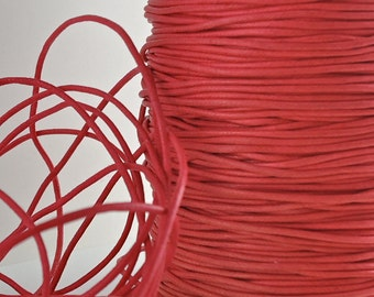 6yds Cord Waxed Cotton 1.5mm Red String Lace Jewelry Cord Macrame String for Bracelet and Necklace