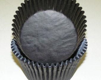 Bulk 500 Black Cupcake Liners, Black Baking Cups, Black Cupcakes for Weddings, Graduations and Birthdays - Greaseproof