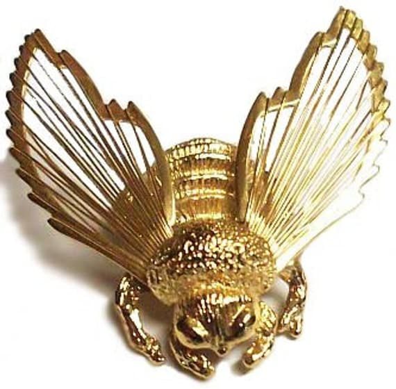 Vintage Bumble Bee Brooch Pin